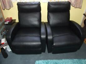 TWO RECLINING CHAIRS USED EXCELLENT CONDITION