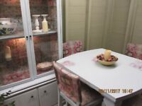 Unique Dining tablewith four chairs and dresser re-worked by Doffidatt Creations