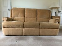Parker Knoll 3 seater sofa and matching storage footstool.
