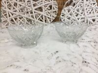 Lovely vintage French Duralex Clear Glass Dessert bowls