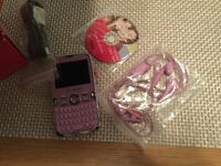 T mobile fairy text pink mobile phone
