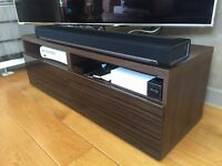Elegant TV unit | Dark Brown Wood | 2 Drawers | 120cmx40cm x40cm