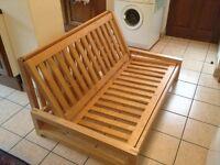 Wooden frame sofa bed