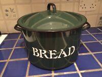 Vintage enamel breadbin