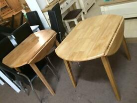 Small tables new also in dark wood