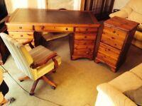 Ducal Office Desk Furniture Suite - Large desk 5'x2'6, Ducal Filing Cabinet, Swivel Chair