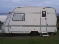 1990 Swift 2 berth Silhouette Caravan in good clean and dry condition plus loads of equipment