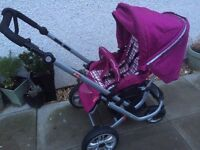 German Herlag pushchair travel system with car seat and extras