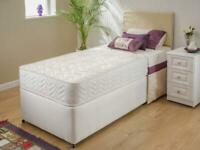 Single or Double deep quilted uk made bed