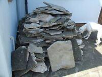 Reclaimed York stone crazy paving