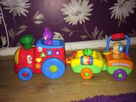 Fisher price push along train