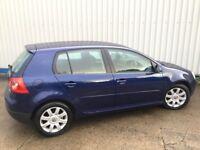 LOW MILEAGE 54 REG VW GOLF GT TDI 6 SPEED DIESEL MOT UNTIL JUNE 2018, 85K FSH INC CAM BELT MET BLUE