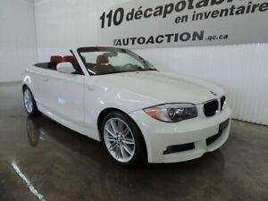 2012 BMW Série 1 128i M-PACKAGE DÉCAPOTABLE - XÉNON - CUIR ROUGE