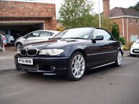 BMW 330ci Convertible M Sport with Hardtop and Wind Deflector. Facelift Model. Low Mileage. FSH.