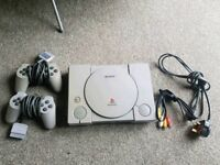 PlayStation one 1 great condition with 2 controllers and all the leads