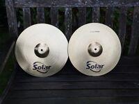 """Cymbals - Sabian Solar 14"""" Hi Hat Cymbals"""