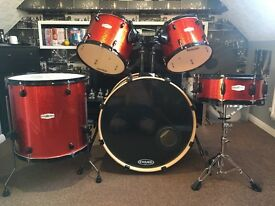 Pearl Forum FZ limited edition orange sparkle rock sizes