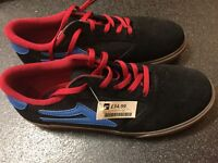 brand new lakai pico kids shoe black gum size 5