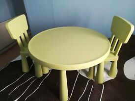 MAMMUT Children's Table and 2 chairs