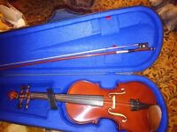 Stentor student violin, bow and carrying bag