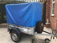 Brenderup trailer + canopy/ramp/spare wheel