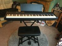 Yamaha P105 digital piano - 88 note weighted keys - plus extras - like new