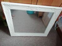 Vintage style cream mirror by Next