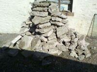Free concrete rubble