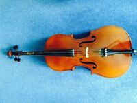 1/2 Czech Cello with bow