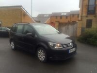 2010 60 FACELIFT VW TOURAN 1.6 TDI S BLACK HPI CLEAR 6 SPEED MANUAL 7 SEATER LOOKS DRIVES EXCELLENT
