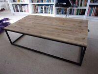 Vintage workshop style coffee table