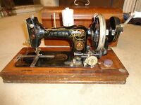 Antique vesta sewing machine