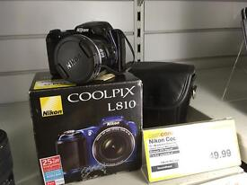 NIKON COOLPIX L810 - Fully Boxed with case!
