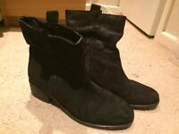 Next black suede boots size 5