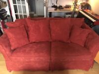 Comfy Red Sofa - Free to collect