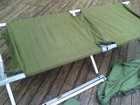 army camp bed in carry bag