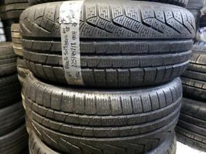 2 winter tires pirelli sottozero 225/45r18 rft