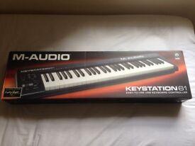 M-AUDIO Keystation 61 USB MIDI Keyboard Pristine In Original Box