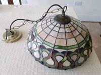 "Tiffany ""Oberon"" Ceiling Pendant Lighy"