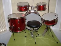 PERFORMANCE PERCUSSION PP200RD METALLIC RED AND CHROME 1/2 SIZE 8 PIECE DRUM KIT