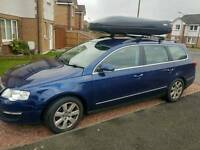 Roof rack Thule Aero bars and Feet Cycle Carriersx4 and Roof Box