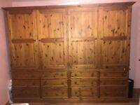 Large Double wardrobes -12 drawers great storage