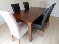 Lovely Solid Wood Dinning Table & Six Chairs