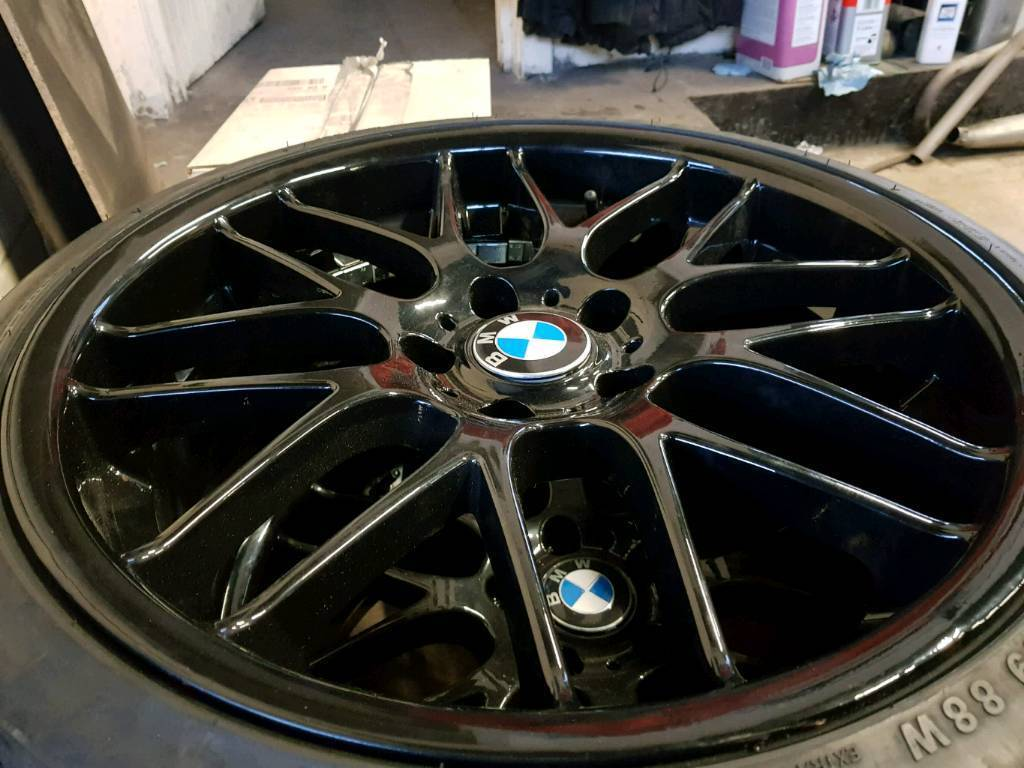"BMW 5x120 19"" alloy wheels with new tyres"