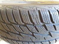 Winter tyres for Nissan Juke Visia. Used one winter season