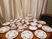 45 piece Royal Alber lavender rose breakfast / coffee set