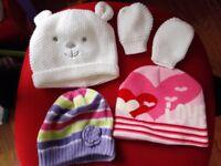 Baby Girls Hats 6-12 months