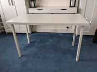 Ikea desk table with cable management tray (great for Home Office)