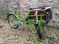 Vintage Butcher / Baker Shop Bike / Bicycle - Perfect Bar Cafe Bistro Prop / Wedding Inspiration