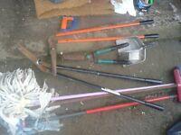 tree bush garden joblot Secateurs & bow saw hedge cutters shears,long handle + hand Pruners,hand saw